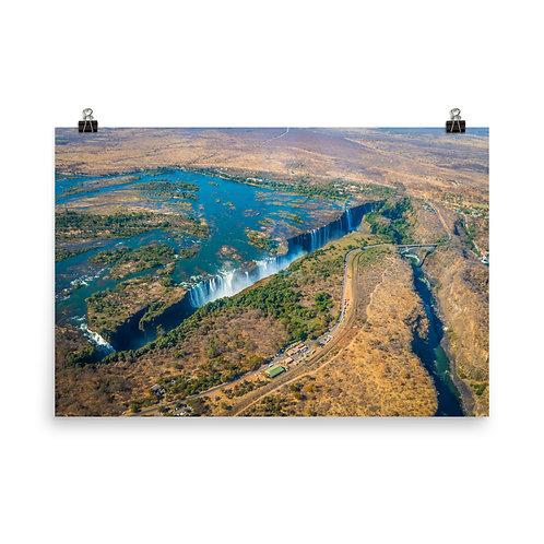 Victoria Falls - Aerial shot  [Poster]