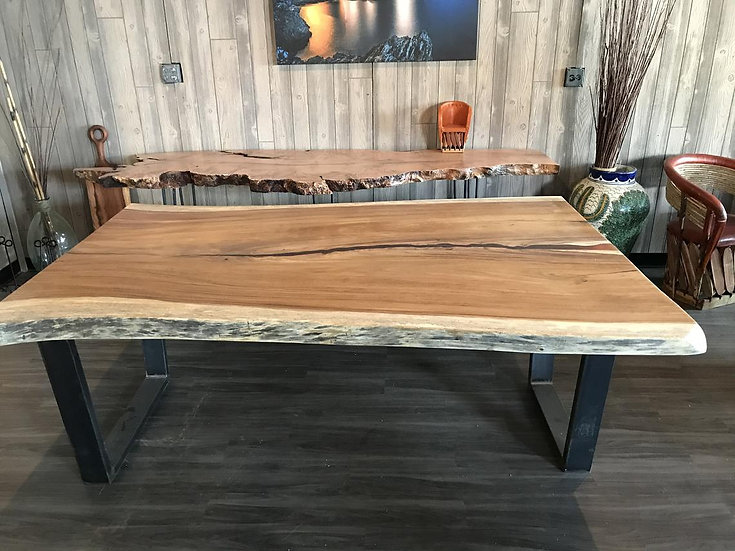 Live edge Dining Table, Epoxy