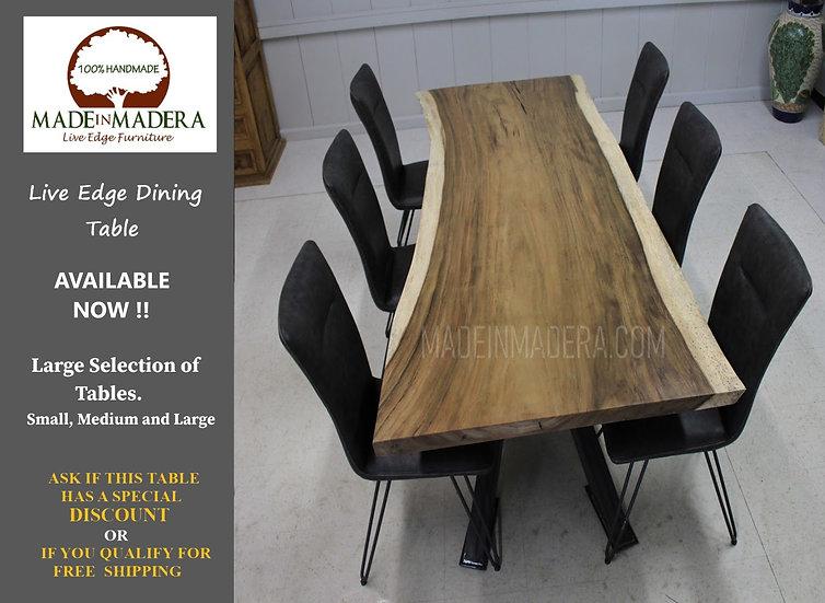 Parota / Guanacaste Live Edge Dining Table Parota Table Custom, live edge slabs