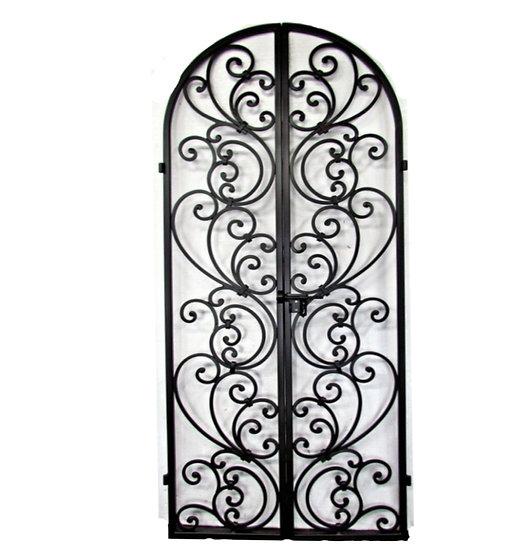 Tuscany Style Wrought Iron Wine Cellar, Pantry Doors. Custom wrought iron interi
