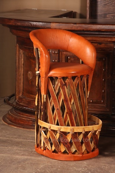 Equipale  Leather Furniture Barstool, Chairs, Mexican Chair.  Handcrafted Chairs