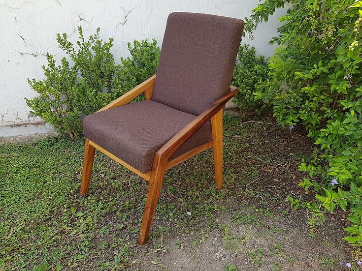 Modern Chair, Contemporary Chair, Solid  Wood Parota Chair,  Dining Chair, Arm