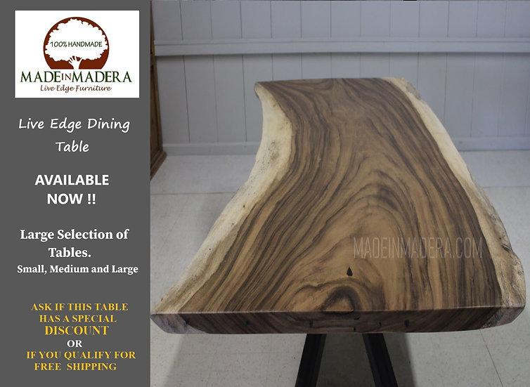 Live Edge Conference Table, Live Edge Parota Wood Table, Custom Dining Table, Pa