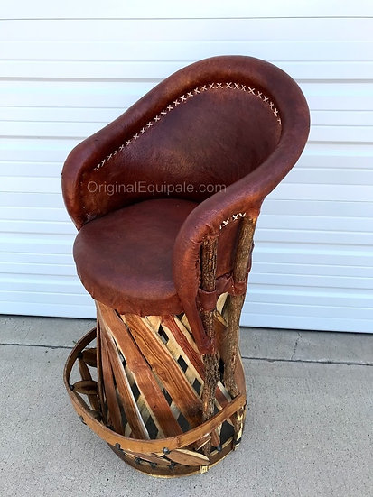 Equipale  Leather Furniture  Bar Stool, Mexican  Barstool .