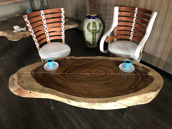 Live Edge Coffee table , Parota / Guanacaste wood