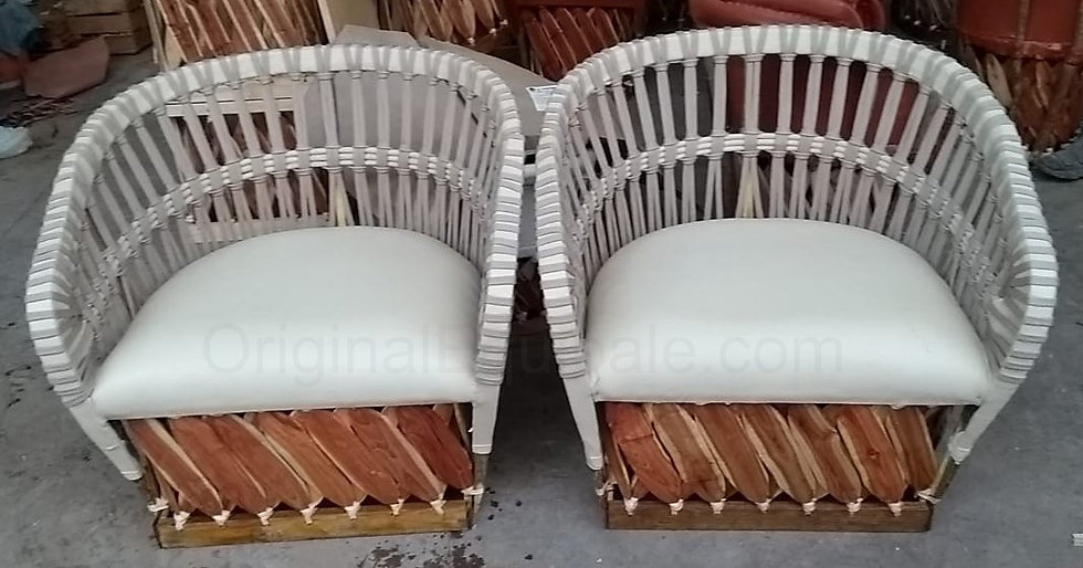 """Wide Equipale Cushioned Leather Chairs """"set of 2"""""""
