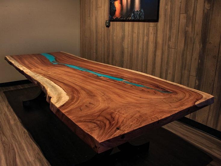 Live edge Dining Table, Epoxy Table top, Custom kitchen island, Live Edge  Parot