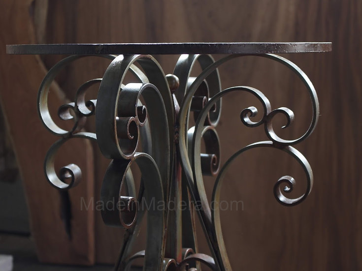 Forged-iron Table Bases, wrought iron  table base, Desk  table base, Entryway ta