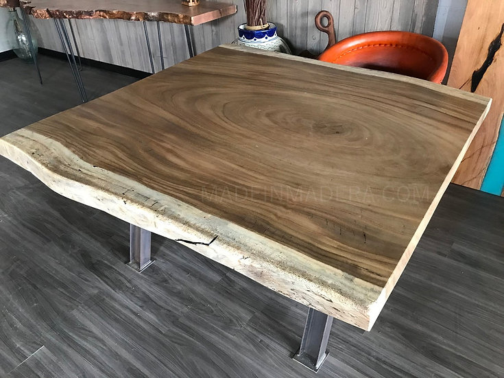 Square Live edge Dining Table