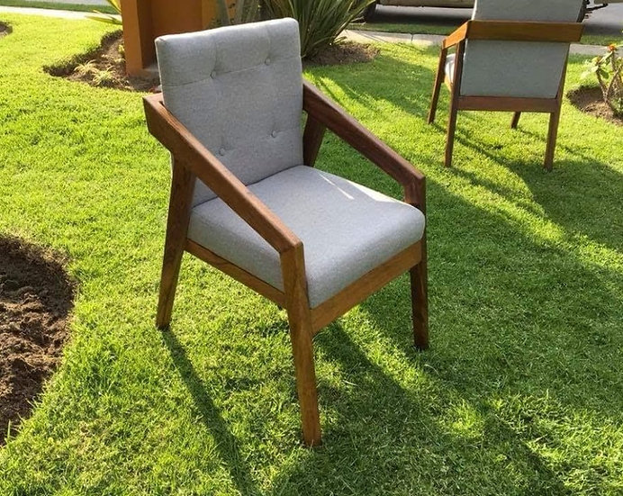 Modern Chair, Contemporary Chair, Solid Wood Parota Chair, Dining Chair, Arm Cha