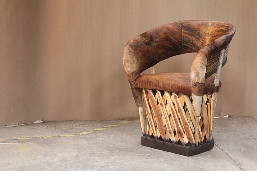 Cushioned Equipale Chairs- Model Vaquero Brindle