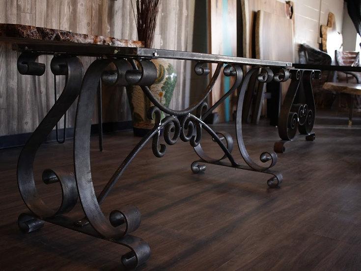 Industrial steel table base.