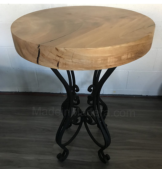 Foyer table, Forged-iron Table Bases, wrought iron  table base,