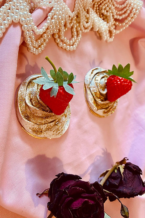 Gold sparkle strawberry Nipple pasties
