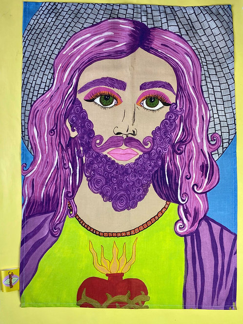 Jesus is a Drag Tea Towel