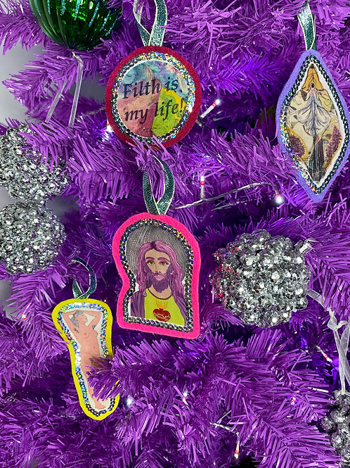 Funky tree decorations