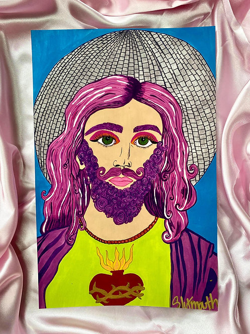 Jesus was a drag queen Print