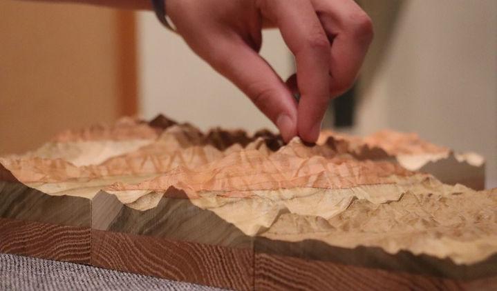 Treeline Terrains hands-on handmade wooden mountain art