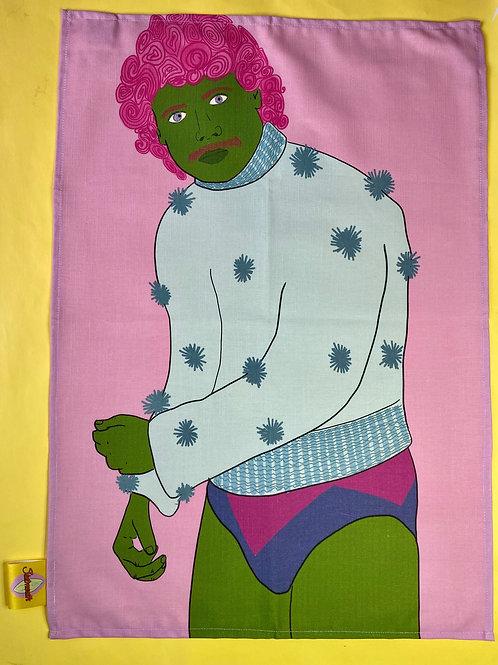 Disco Babe Tea Towel