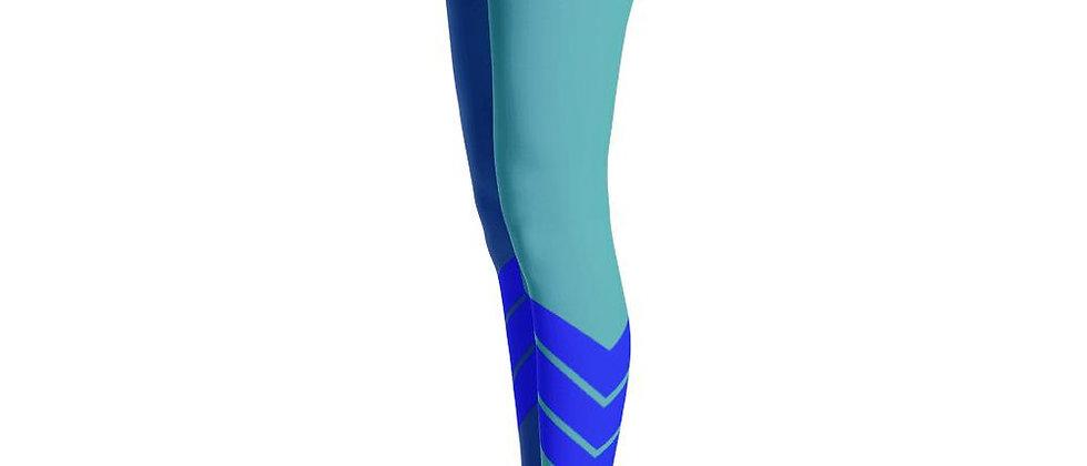 Women's All Day Comfort Dual Blue Venture Pro Stripe Leggings