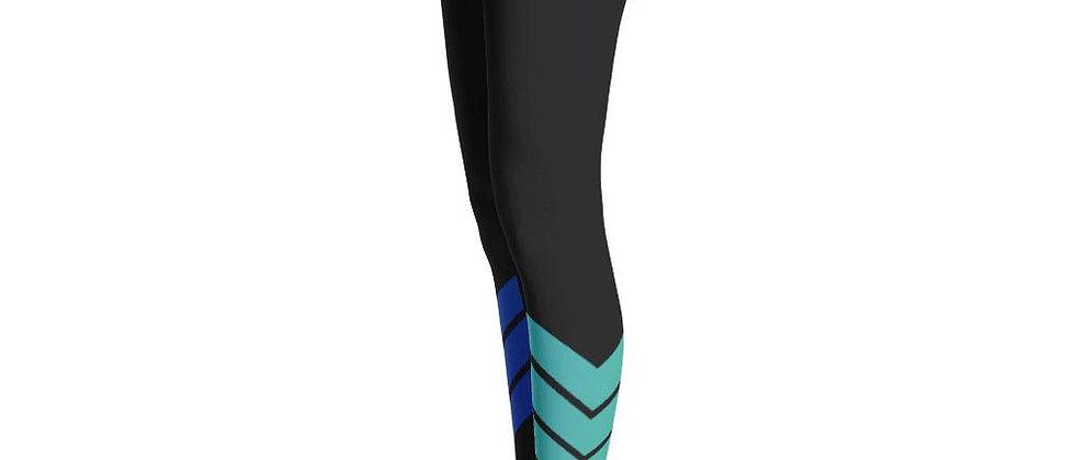 Women's All Day Comfort Black Venture Pro Stripe Leggings