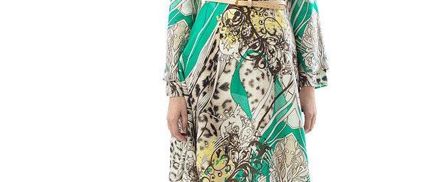 Faux Wrap Style Dress