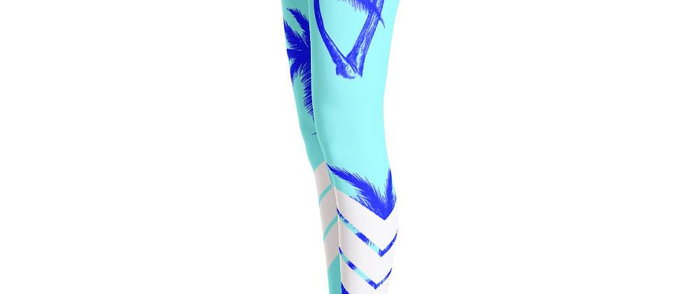 Women's All Day Comfort Teal Venture Pro Palm Life Leggings