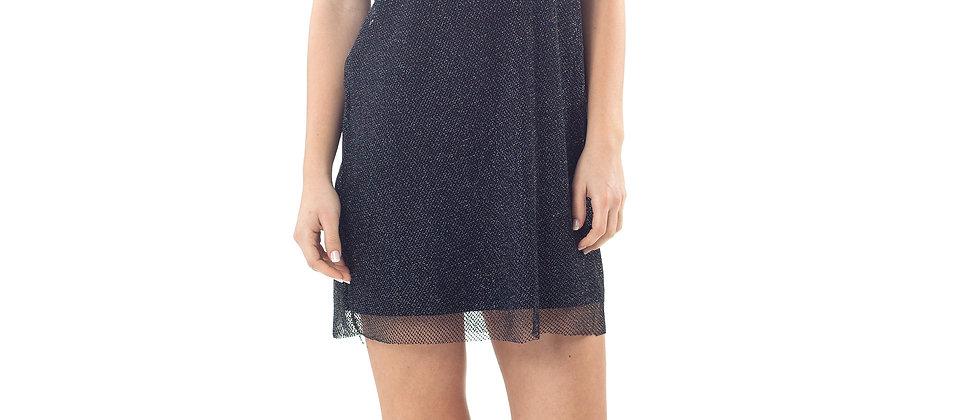 Sheer Layer Mini Dress