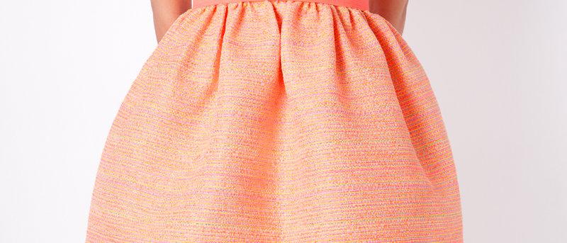 Orange Dress Short