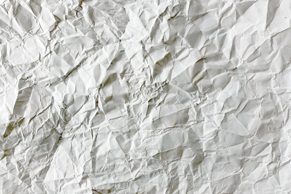 crumpled piece of white paper