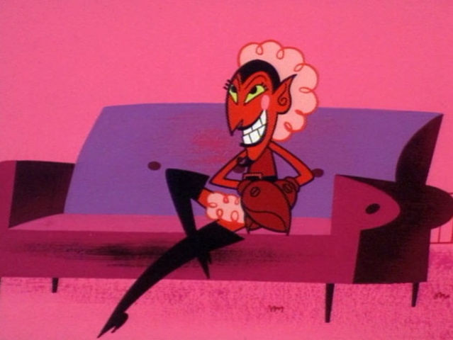 gay devil from power puff girls on couch