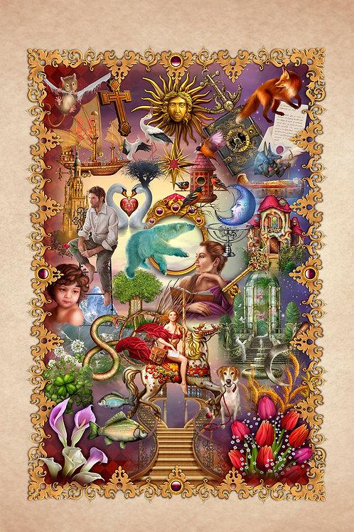 Gilded Reverie Lenormand Tapestry S