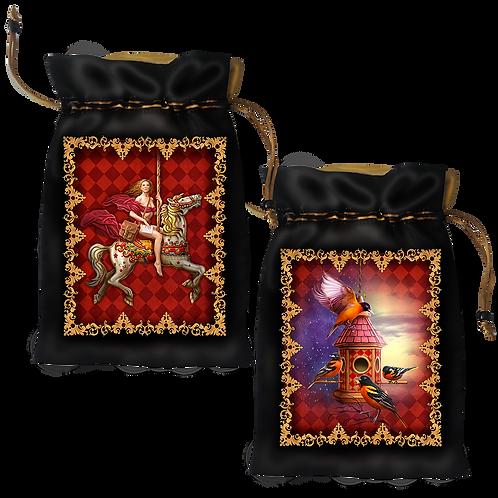Gilded Reverie Lenormand Satin Bag