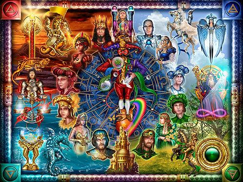 Tarot of Dreams - Digital Jig Saw Puzzle