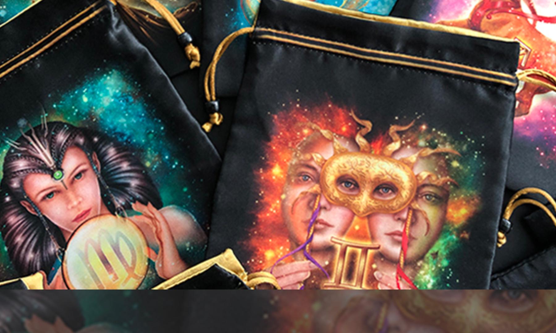 Zodiac Satin Bags