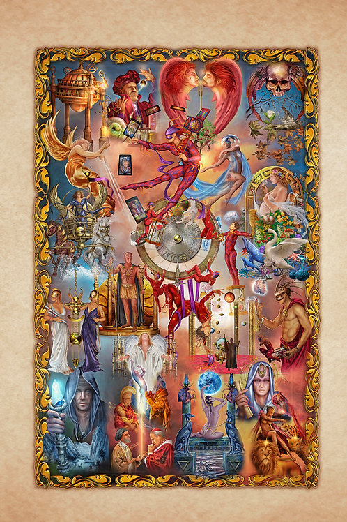 Legacy of the Divine Tarot Tapestry L