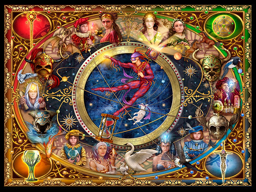 Legacy of the Divine Tarot - Digital Jig Saw Puzzle