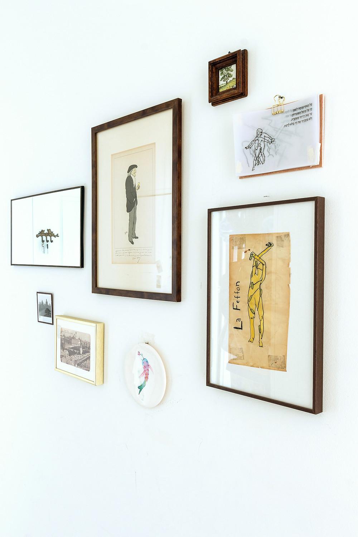 עיצוב קיר תמונות  : סטודיו חיית וינטאג'