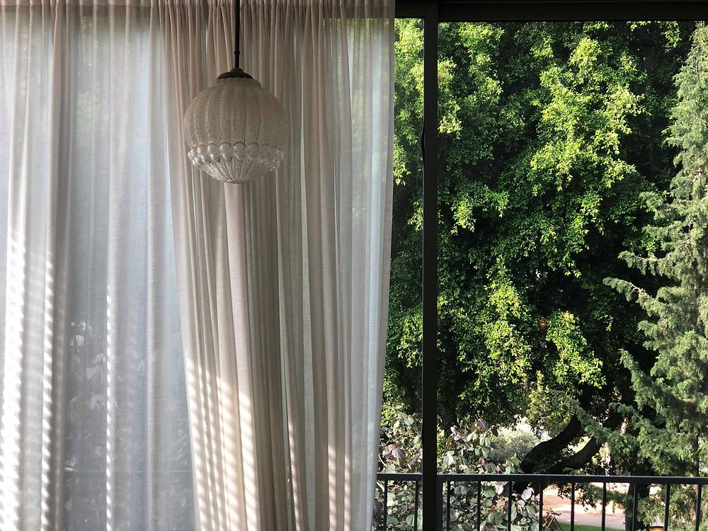 עצים, גוף תאורה, ווילון, זה כל הסיפור