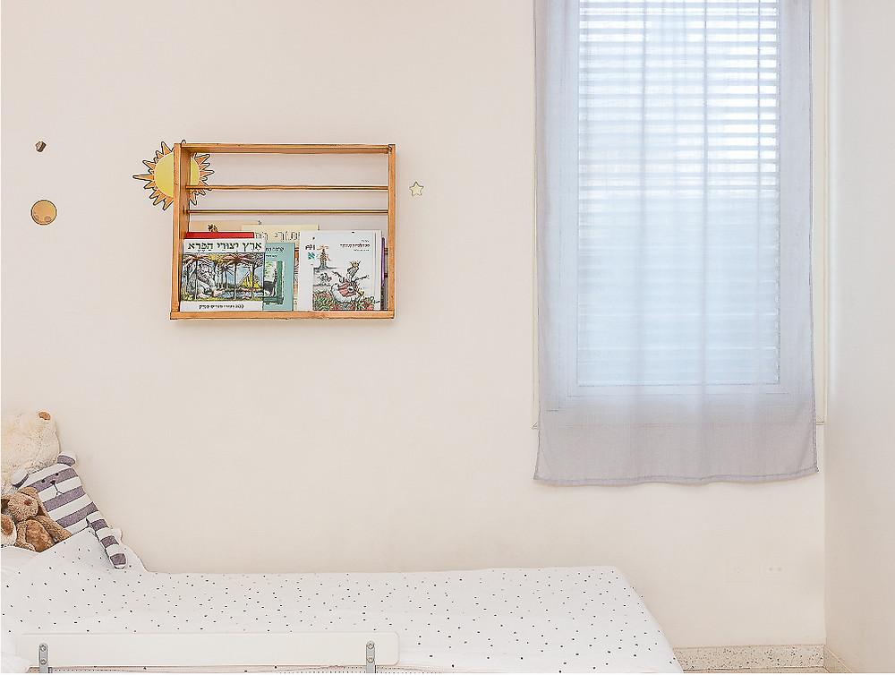 עיצוב חדר ילדים סטודיו חיית וינטאג'- מדפייה