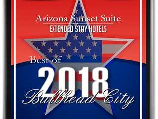 Arizona Sunset Suites Receives 2018 Bullhead City Business Hall of Fame Award