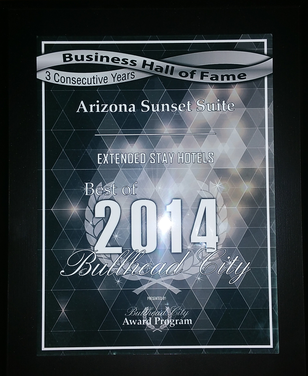 2014 Best of Bullhead City Awards for Extend Stay and now qualifies for the Bull