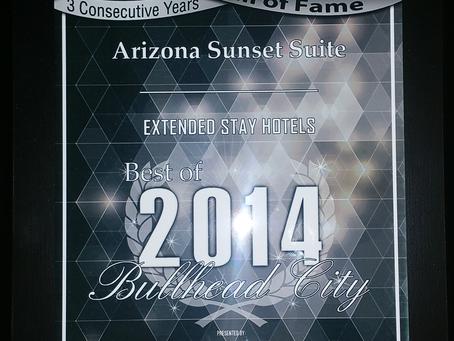 2014 Bullhead City Business Hall of Fame Award