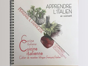 VENTE DU LIVRE DE RECETTES DE CUISINE ITALIENNE BILINGUE français/italien