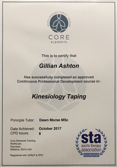 Kinesiology Taping Certificate
