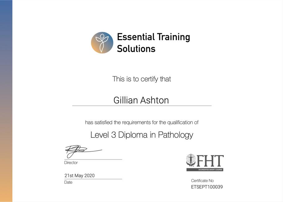Pathology Level 3 Diploma