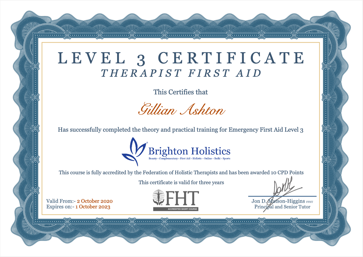 Therapists First Aid Certificate