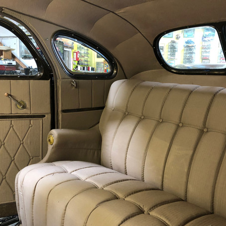 1936 DeSoto Airflow Upholstery Fabric