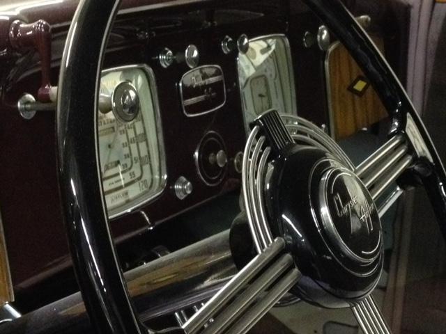 Restored banjo steering wheel