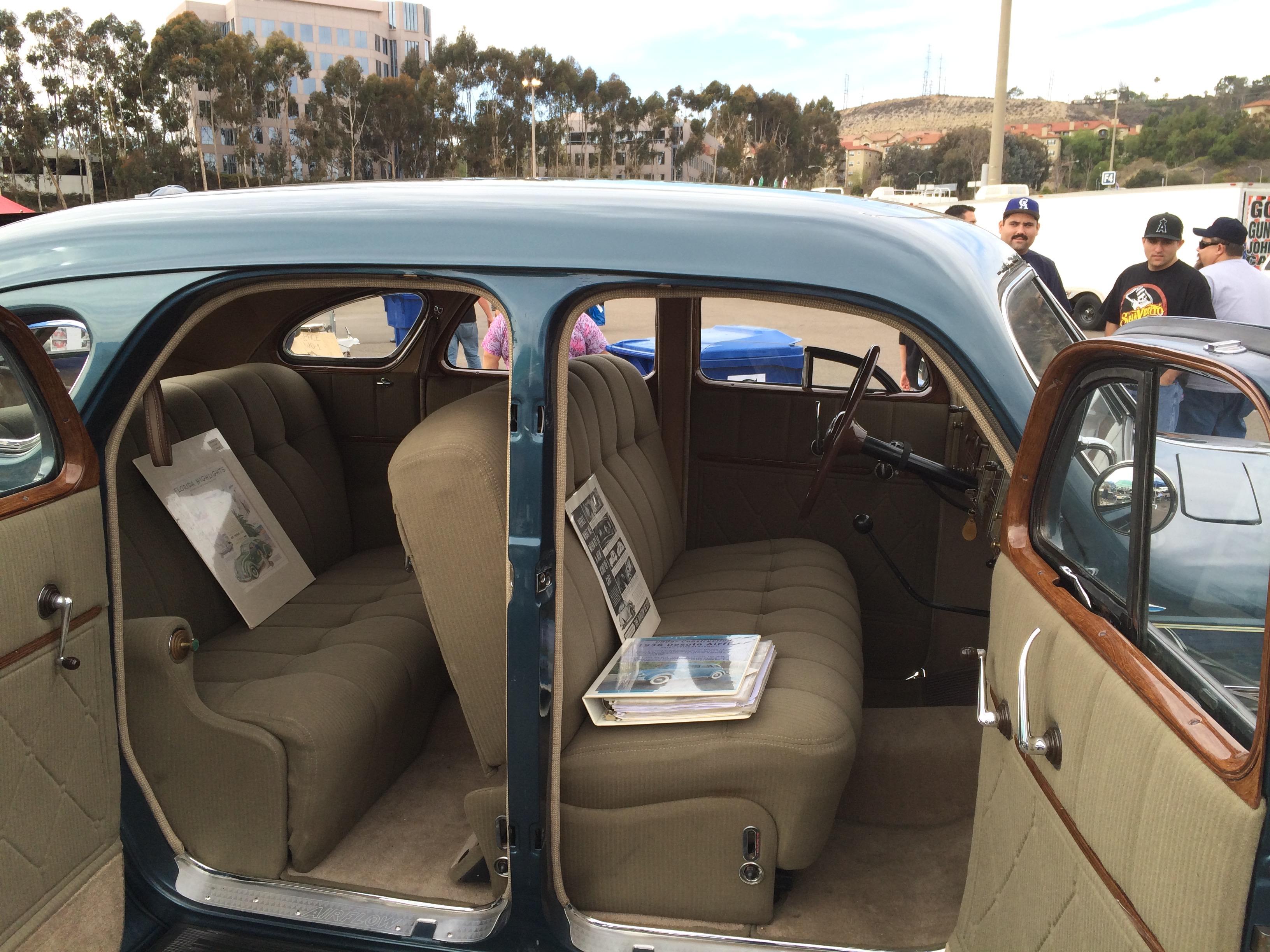 1936 DeSoto S2 Sedan interior